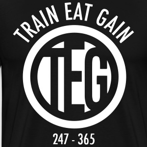 Train Eat Gain Circle Logo T-Shirts - Men's Premium T-Shirt