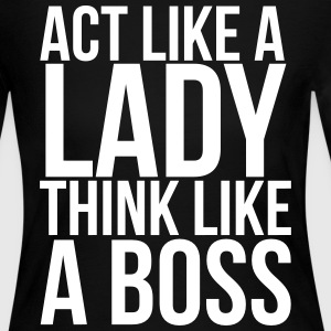 Act like a lady think like a boss Long Sleeve Shirts - Women's Long Sleeve Jersey T-Shirt