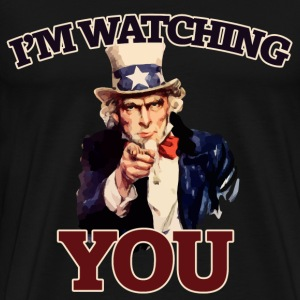 Uncle sam is watching YOU - Men's Premium T-Shirt
