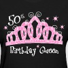 Tiara 50th Birthday Queen DK T-Shirt - Women's T-Shirt