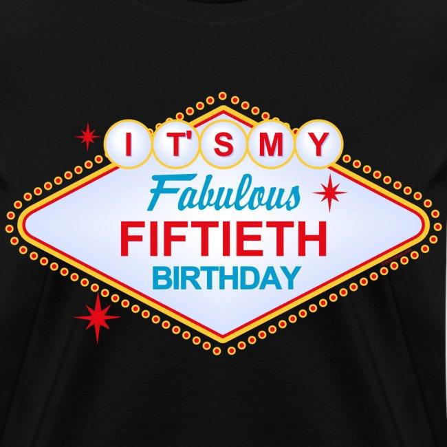 Las Vegas 50th Birthday T-Shirt - Womens T-Shirt