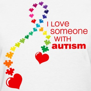 Autism Love Ribbon T-Shirt - Women's T-Shirt