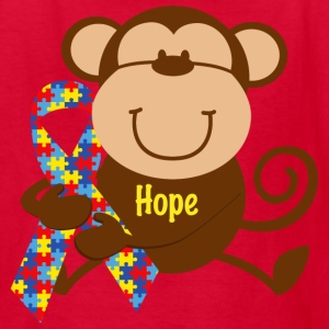 Monkey Autism Hope T-Shirt - Kids' T-Shirt