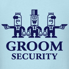 Groom Security Cartoon (Stag Party / 1C) T-Shirts