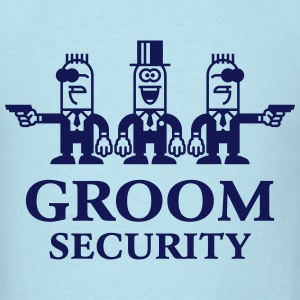 Groom Security Cartoon (Stag Party / 1C) T-Shirts - Men's T-Shirt