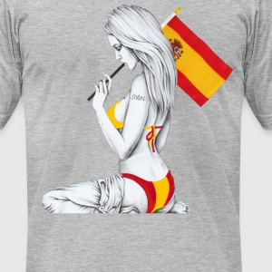 spain by killakam T-Shirts - Men's T-Shirt by American Apparel