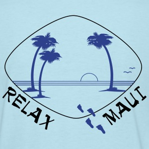 Relax Maui in two color print - Women's T-Shirt