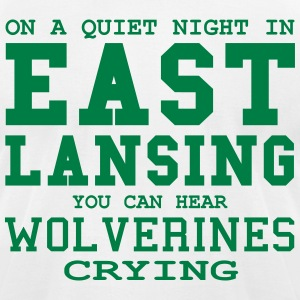 Quiet night in East Lansing T-Shirts - Men's T-Shirt by American Apparel