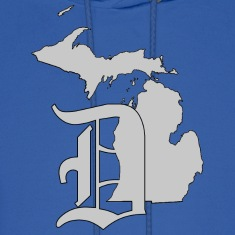 Michigan Detroit Emblem Apparel Hoodies