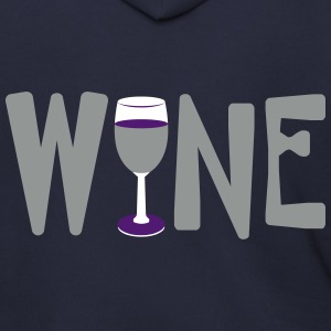 Wine Glass Text Zip Hoodies & Jackets - Men's Zip Hoodie