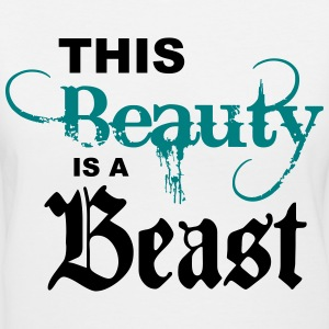 This Beauty Is a Beast Women's T-Shirts - Women's V-Neck T-Shirt