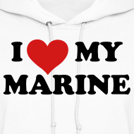Design ~ I heart My Marine Sweatshirt - WHITE