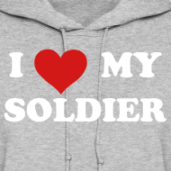 Design ~ I heart My Soldier Sweatshirt - GRAY