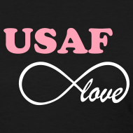 Design ~ USAF Infinity Love - BLACK