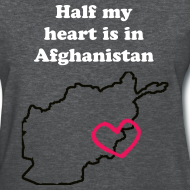 Design ~ Half my heart is in Afghanistan - GRAY
