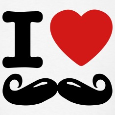 i love moustache / I heart moustache T-shirts