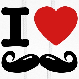 i love moustache / I heart moustache Hoodies - Women's Hoodie
