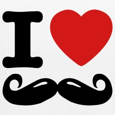 i love moustache / I heart moustache Tanks
