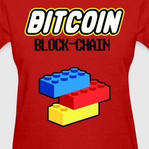 Bitcoin Lego Block Chain Ladies T Shirt - Women's T-Shirt