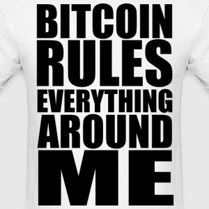 Bitcoin Rules Geek Nerd Rap - Men's T-Shirt