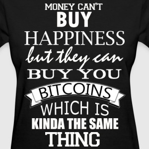 Women's Bitcoin Happy Money T Shirt - Women's T-Shirt