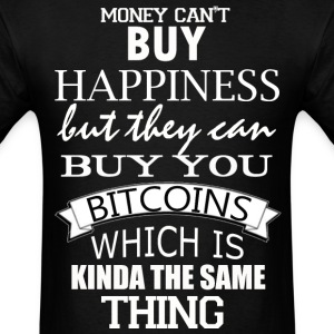 Bitcoin Happy Money Geek - Men's T-Shirt