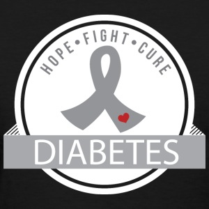 Hope Fight Cure Diabetes Women's T-Shirts - Women's T-Shirt