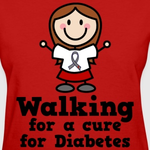 Diabetes Walking For A Cure Women's T-Shirts - Women's T-Shirt