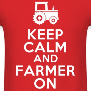keep_calm_and_farmer_on T-Shirts - Men's T-Shirt