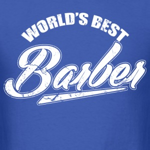 worlds_best_barber T-Shirts - Men's T-Shirt