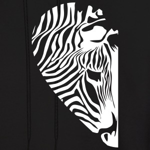 Zebra - Love couple Left - Men's Hoodie