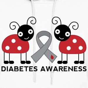 Diabetes Awareness Ladybug Hoodies - Women's Hoodie