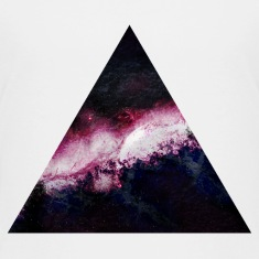triangle galaxy Kids' Shirts