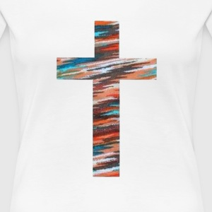 Painted Cross Women's T-Shirts - Women's Premium T-Shirt