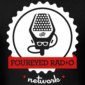 Four Eyed Radio Logo Tee (Dark) - Men's T-Shirt
