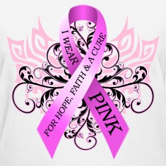 I Wear Pink For Hope Faith and A Cure Women's T-Shirts