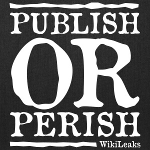 Publish or Perish - WikiLeaks Bags & backpacks - Tote Bag