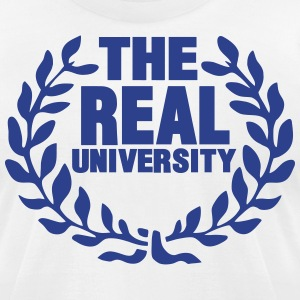 THE REAL UNIVERSITY T-Shirts - Men's T-Shirt by American Apparel