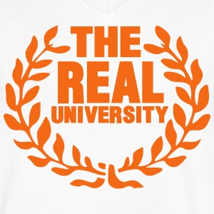 THE REAL UNIVERSITY T-Shirts - Men's V-Neck T-Shirt by Canvas