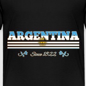 Vintage colorized flag ARGENTINA since 1822 - Toddler Premium T-Shirt