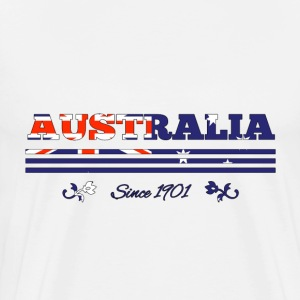 Vintage colorized flag AUSTRALIA since 1901 - Men's Premium T-Shirt