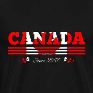 Vintage colorized flag CANADA since 1867 - Men's Premium T-Shirt