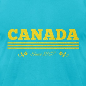 Vintage golden CANADA since 1867 - Men's T-Shirt by American Apparel