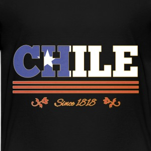 Vintage colorized flag CHILE since 1818 - Kids' Premium T-Shirt