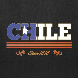 Vintage colorized flag CHILE since 1818 - Tote Bag