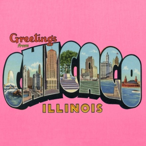 Greetings Chicago Illinois Apparel Bags & backpacks - Tote Bag