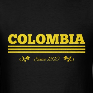 Vintage golden COLOMBIA since 1810 - Men's T-Shirt