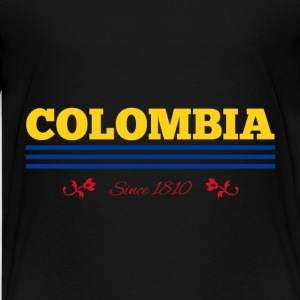 Vintage colorized flag COLOMBIA since 1810 - Kids' Premium T-Shirt