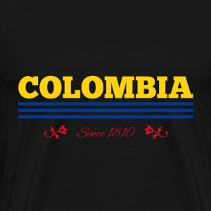 Vintage colorized flag COLOMBIA since 1810 - Men's Premium T-Shirt
