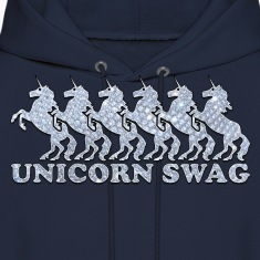 Unicorn Swag w/ Diamonds (Color) Hoodies